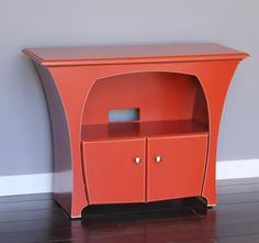 Media Console in Desert Red Paint for Flat Screen Televisions