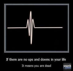 If there are no ups and downs in your life, it means you are dead - Quotes - www.SearchQuotes.com