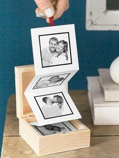 What a great way to display your digitized photos!  #photography #diy