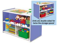 Kids Colors™ Preschool Double-Sided Storage Unit at Lakeshore Learning