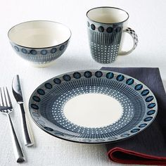 Potter's Workshop Dinnerware Set - Gray - in love !