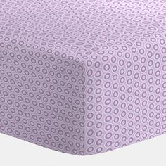 """Purple Dots Crib Sheet   Carousel Designs.  Our fitted crib sheets feature deep pockets and have elastic all the way around the edges to hug mattresses securely. Fits standard crib mattresses, measuring approximately 28"""" x 52""""."""
