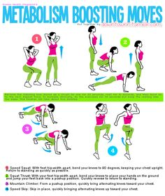Metabolism Boosting Moves #healthy #fitness #workout