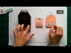 Extra Wide Holder Using The Scalloped Tag Topper Punch from Stampin' Up! - YouTube