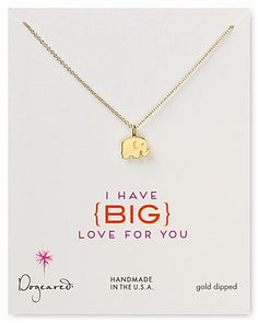 "Dogeared I Have Big Love For You Pendant Necklace, 18"" super cute :)"