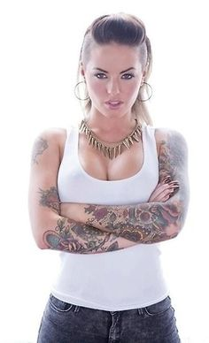 sexi, tattoos, old school, art, christi mack, girl tattoo, tattoo ink, hair, sleeves
