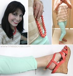 Rachel from Lines Across found amazing styles in Mint, Gold, and Coral at Sears! #ThisisStyle #cbias