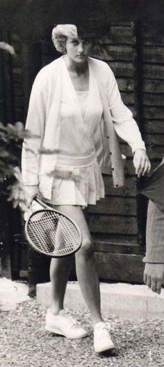 Princess Diana ready for tennis.