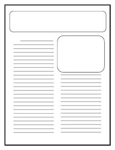 Free writing papers for kids on pinterest writing papers for Free printable newspaper template for students