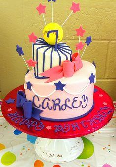 girly softball cake