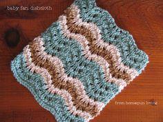 homespun living: the baby fan dishcloth. Free knit pattern.