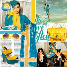 """""""Yellow in the clouds...."""" by ornellav on Polyvore"""