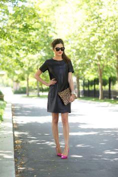 Little black leather dress