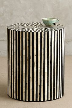 Inlay Side Table #anthrofave #blackandwhite #uptownchic