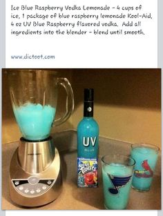 Ice blue vodka lemonade