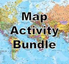 Included in this bundle are a collection of map activities for students to search and locate the various countries and capital cities of the world.