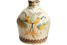 "Hand-Painted Pot   Gilles Mendel  7""H  ($310.00)   $217.00  OneKingsLane.com handpaint pot, mendel 7h, pot gill, gill mendel, 7h 31000, antiguedad moderna, 21700 onekingslanecom"