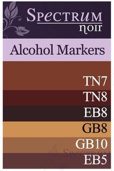Spectrum Noir Alcohol Markers: Brown