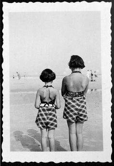 Anne and Margot Frank - the Netherlands, July 1938.