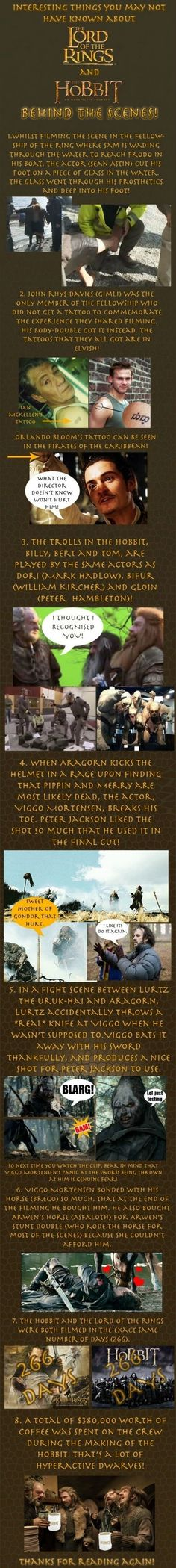 Some LOTR & Hobbit trivia. - Imgur