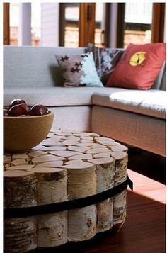 Tree Trunk Coffee Table
