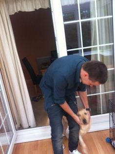 Liam with his dog