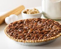 Maple Pecan Pie:  Toasted pecans taste even better in the sweet maple filling of this heavenly pie, yet it has a fraction of the usual carbs.