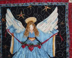 Angel Quilted Wall Hanging - Sold