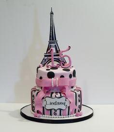 Paris Theme Birthday cake