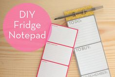 #DIY fridge notepad (with free downloads / printables) free printable notepad, fridg notepad, notepadwith free, craft, diy notepad, diy magnet, free download printables, magnet notepadwith, diy fridg