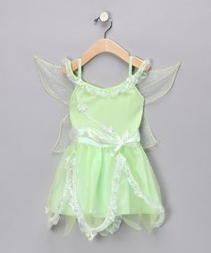 Take a look at this Green Fairy Winged Dress - Toddler & Girls by Princess Expressions on #zulily today!  Only $10.99
