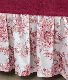Red Toile Bedskirt red toile bedroom, guest bedrooms, toil bedroom, dust, bedskirt, bedroom remodel, bed skirts, skirt 20, ruffles