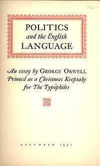 george orwell essay on english language