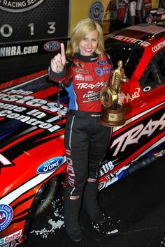 Courtney Force, the youngest daughter of drag racing's most prolific and popular driver, 15-time NHRA Funny Car Champion John Force, is RACER magazine's  runaway choice as Rookie of the Year, voted on by their global readership.