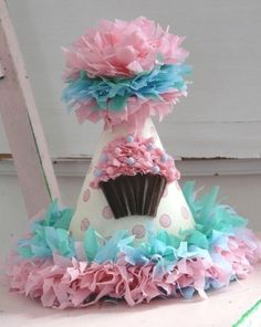 Party Hat Custom crepe paper party hat your by silverspoonscraps, $22.00