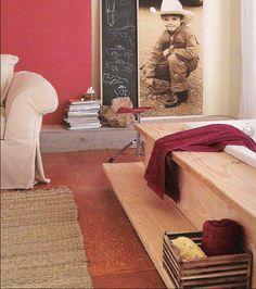 plywood floors--less expensive flooring alternative. Brilliant!!