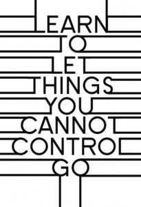 giving up control.
