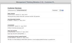 iTunes App Store customer feedback August 2013