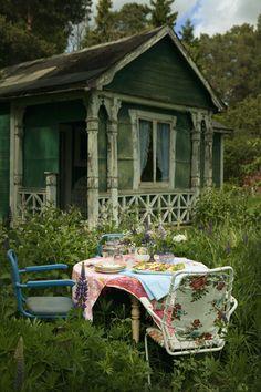 tea for two, ulrika ekblom, cottage gardens, outdoor, girlfriend, back porches, little cottages, farm houses, söderberg agentur