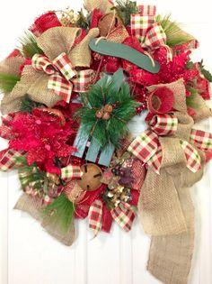 christma mesh, christmas wreaths, christma wreath, wravish wreath, christma holidaz, mesh wreaths