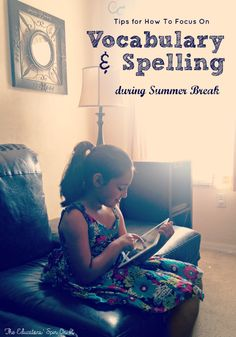 Vocabulary and Spelling Resource for Summer Learning featuing VocabularySpellingCity.com #spon