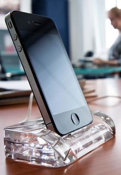 Elegant lines. Playful curles. Whatever your style is. Whatever Crystal Dock design you chose. The fashionable impact on your home or office table will not go unnoticed. Don't just charge. Anchor your iPhone into a unique masterpiece of craftsmanship. Precision handcrafted. Beautiful.