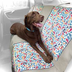 Kurgo Color Splash Bench Dog Car Seat Cover. Protect your car from your wet doggy - A must! This one has a great pattern. #PetcoPlaylist @petco