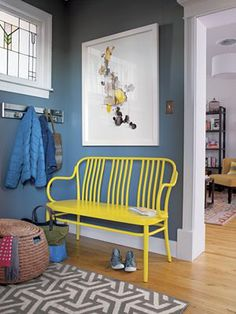 Sonny Yellow Bench I Crate and Barrel