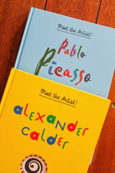 scrumdilly-do!: book review: Meet the Artist! {Picasso and Calder}