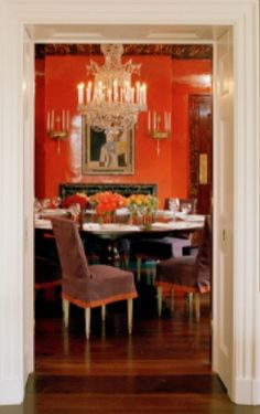 Tory Burch View into Dining Room