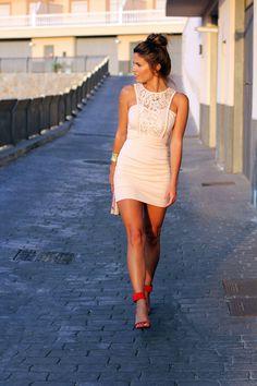 red heels & cute dress