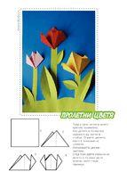 skládané tulipány krokoták
