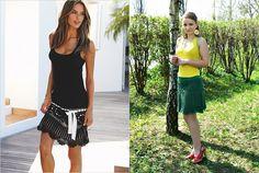 Green crochet skirt inspired by Victoria's Secret.