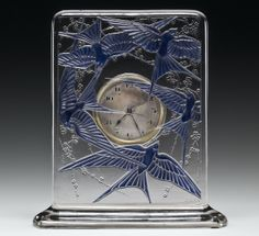 Cinq Hirondelles (Five Swallows) clock by René #Lalique, designed 1920 | Corning Museum of #Glass
